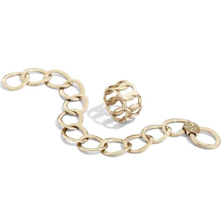 Pomellato Brera rose gold ring and bracelet