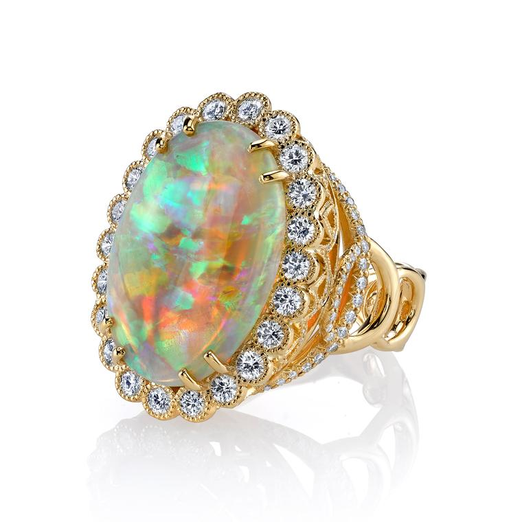 Easter Egg opal cocktail ring