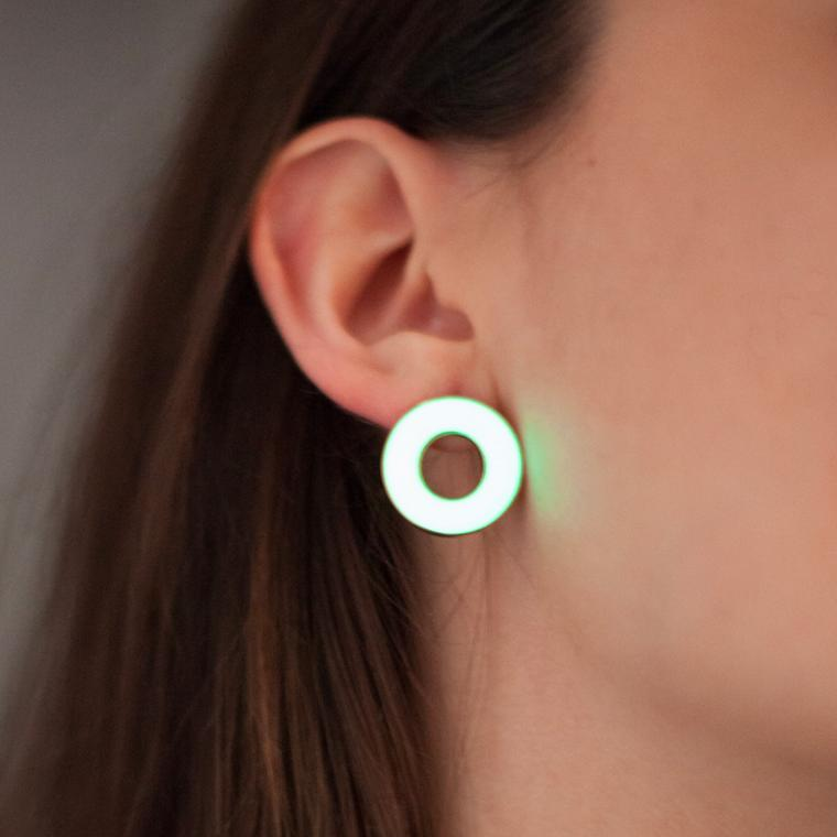 Baptiste Monvoisin Glowy glow-in-the-dark earrings