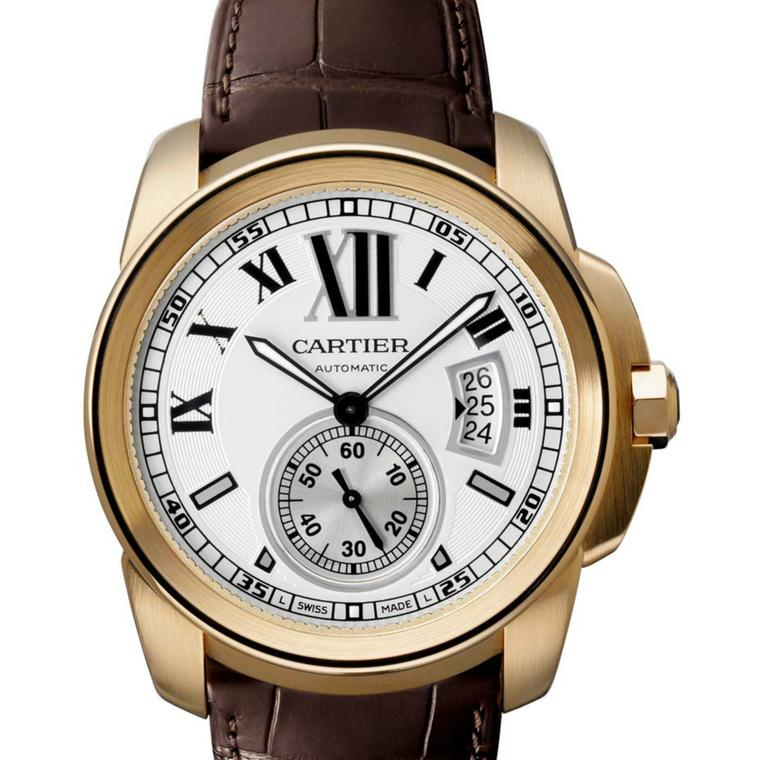 Calibre de Cartier rose gold watch