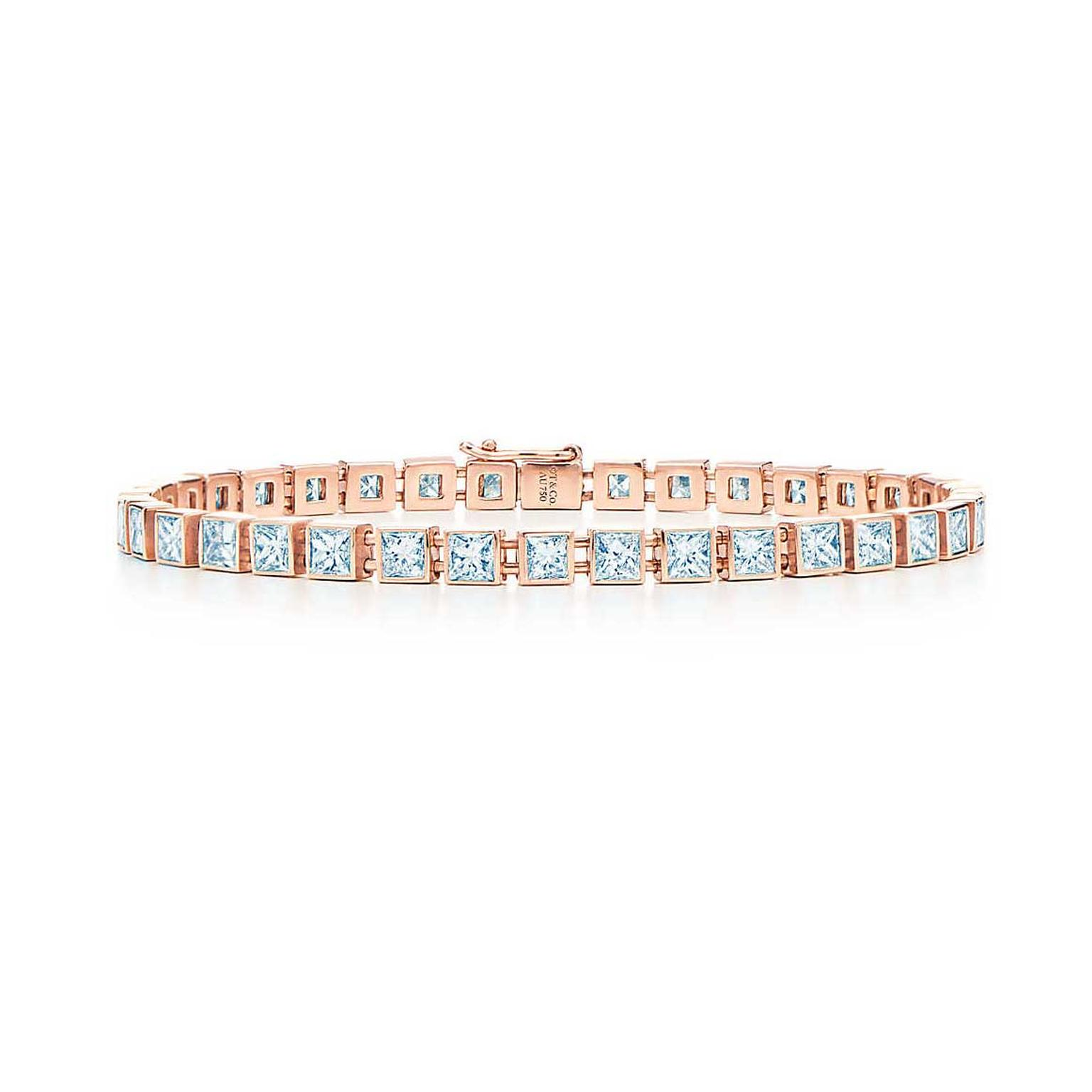 Tiffany diamond tennis bracelet in rose gold