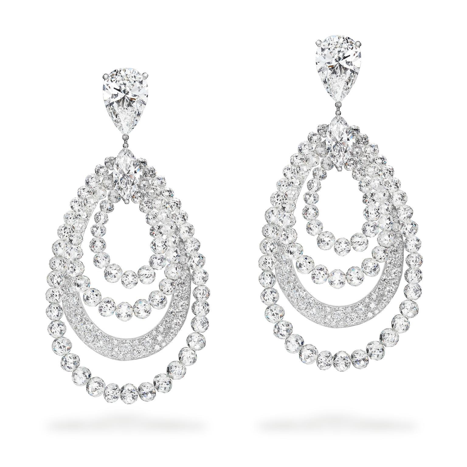 de GRISOGONO Love on the Rocks white diamond High Jewellery earrings