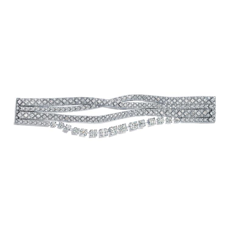 Tiffany Masterpiece Ribbons lucida diamond bracelet