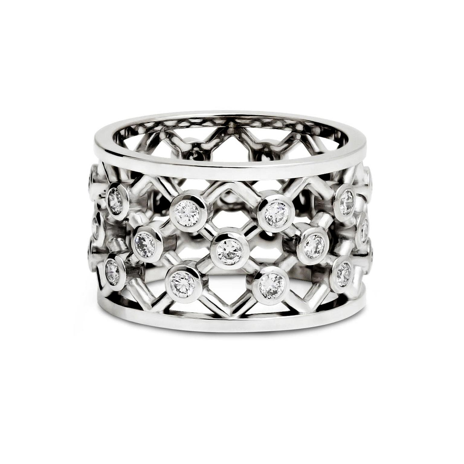 Alexander Davis Dendritic Lattice diamond ring