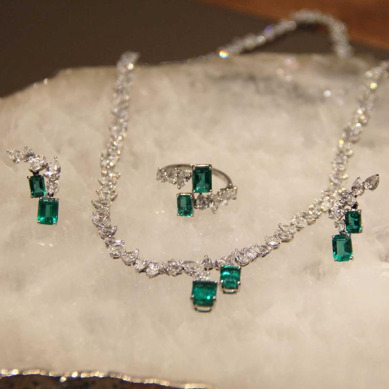 William & Son MYA emerald and diamond jewellery
