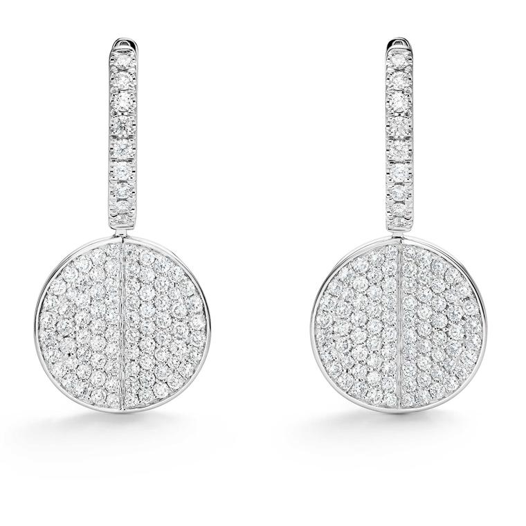 Bucherer B Dimension earrings with diamonds in white gold Price £3500