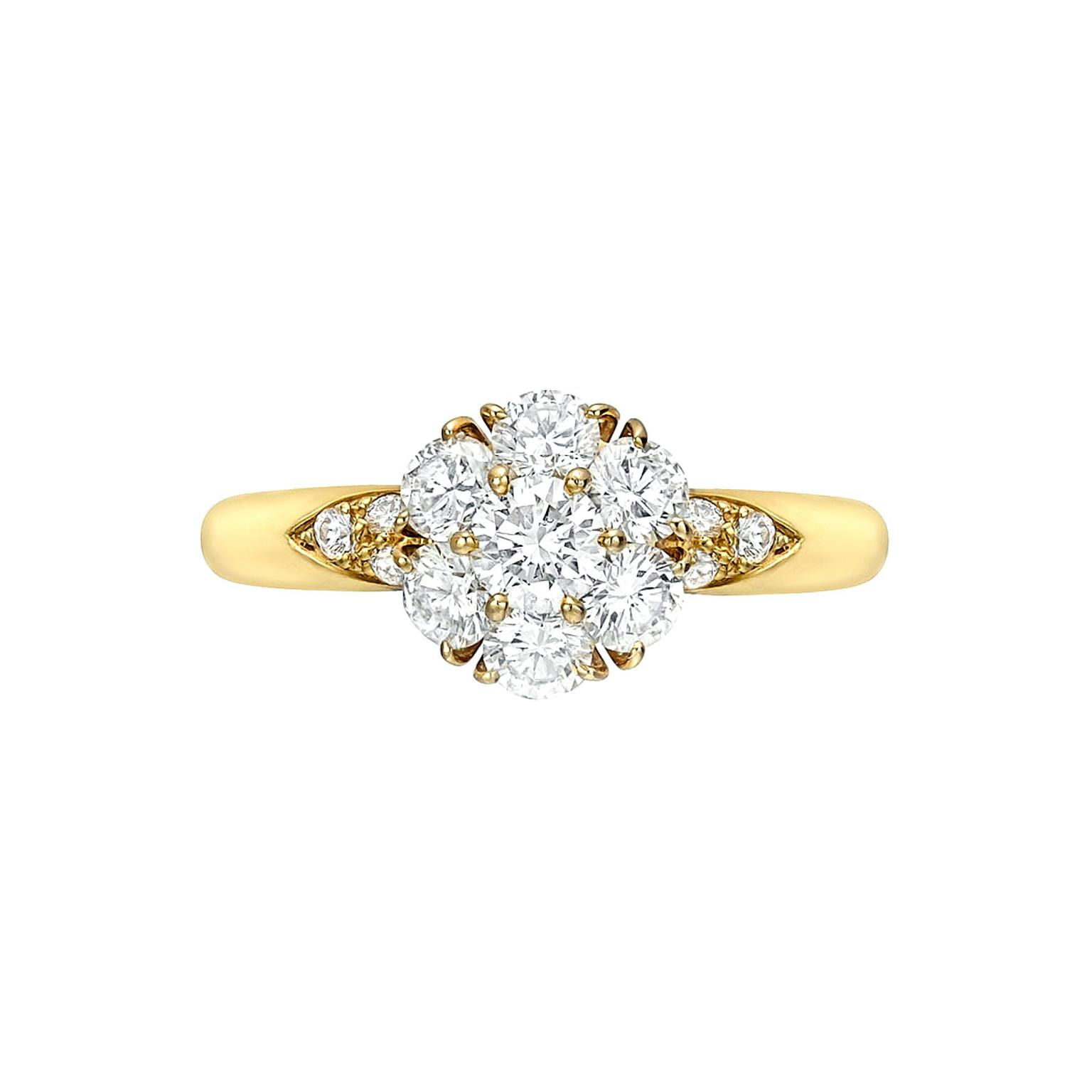 Cluster-set Van Cleef & Arpels engagement ring