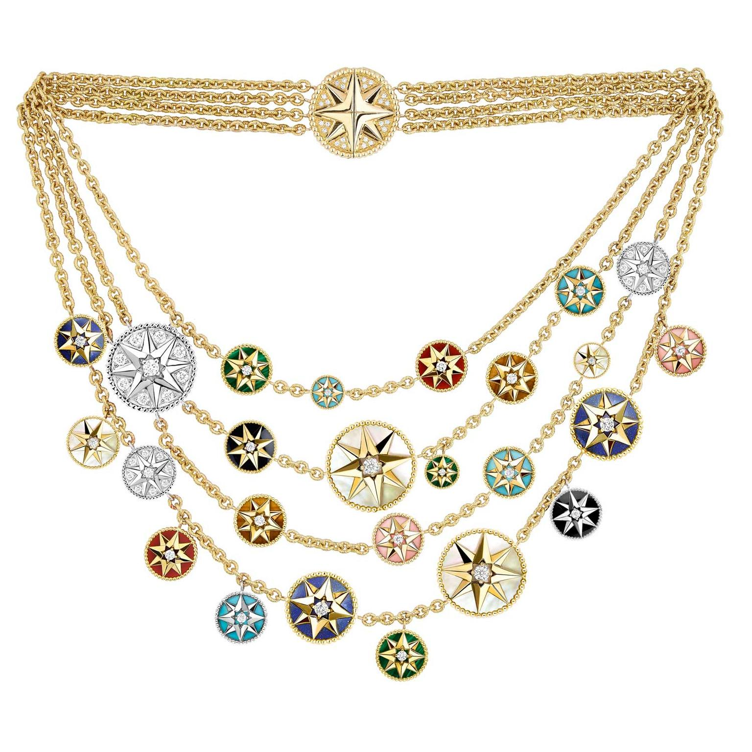 Dior Rose des Vents multi-strand-necklace