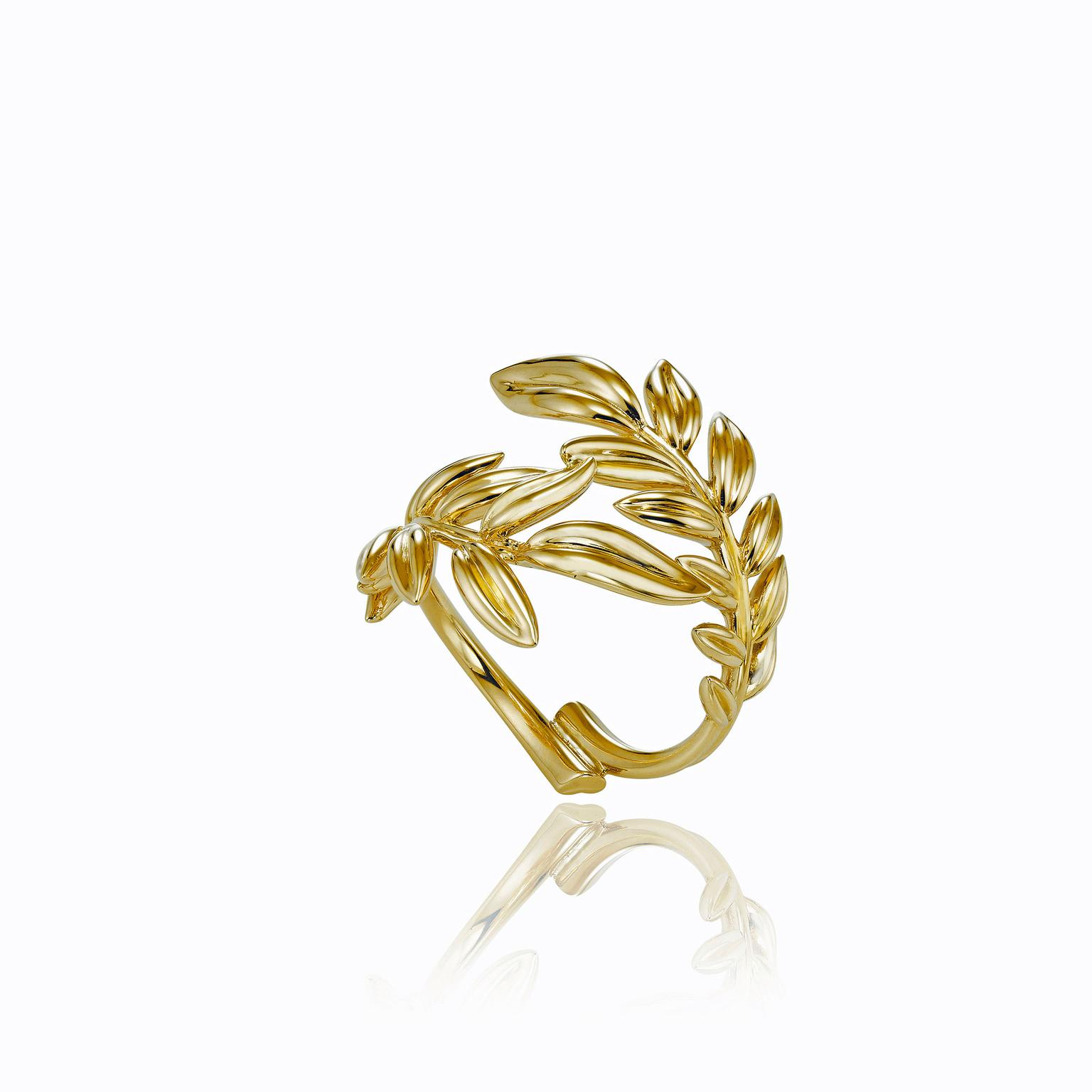 Chopard Palme Verte Fairmined yellow gold ring