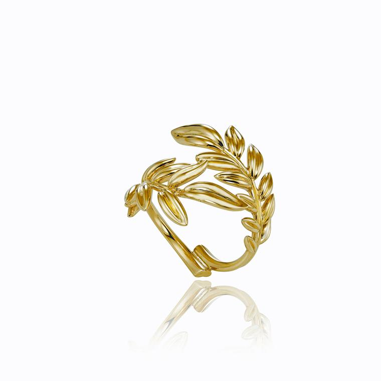 Palme Verte ring in 18ct Fairmined gold