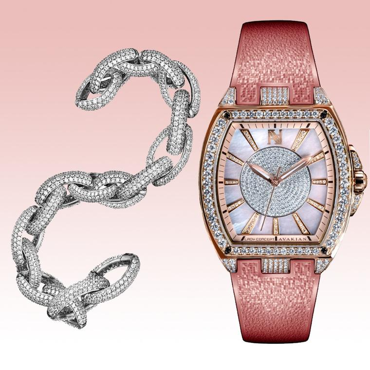Avakian Lady Concept watch in pink