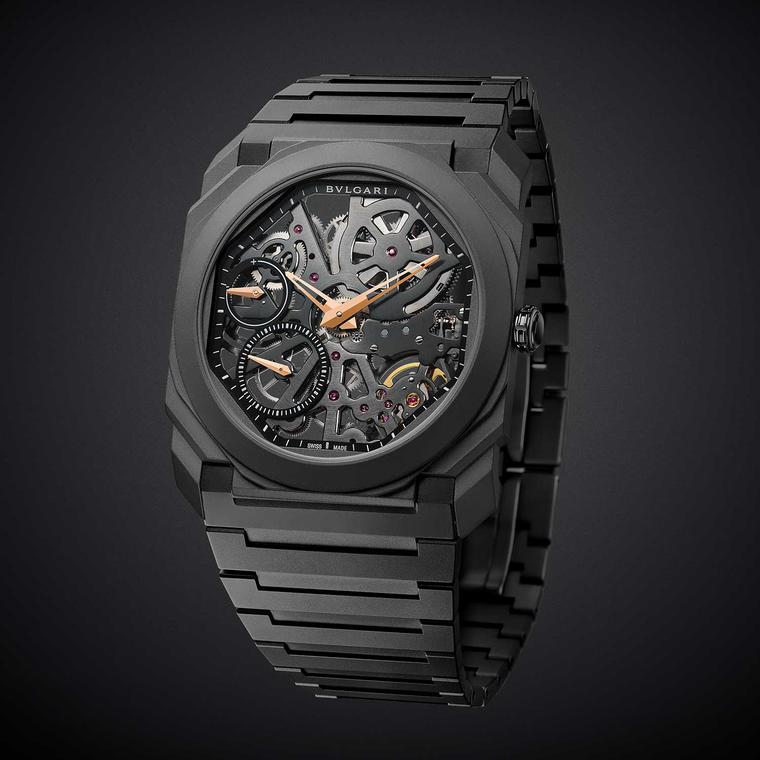 Bulgari Octo Finissimo Skeleton all black watch