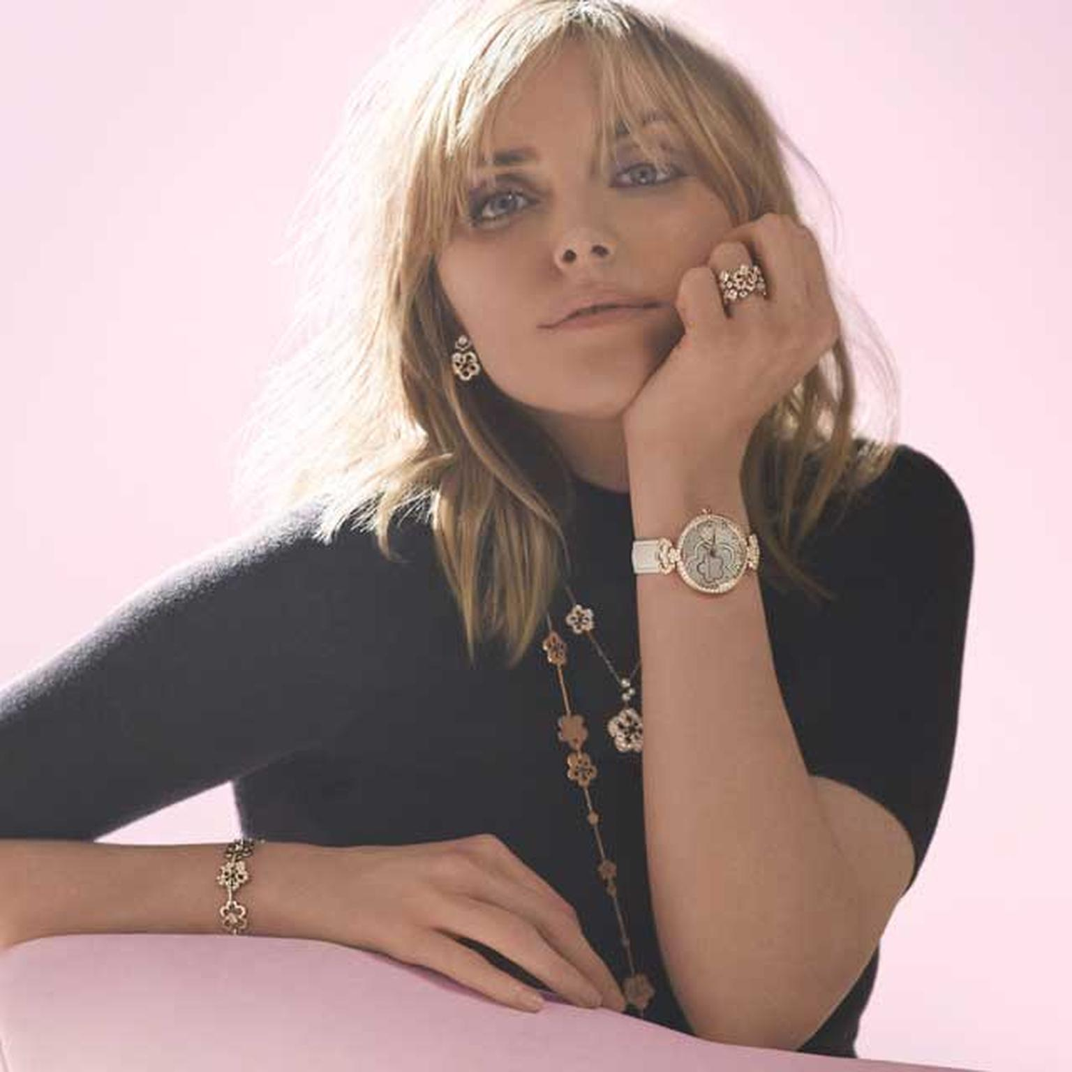 Sophie Dahl wearing Boodles Blossom collection