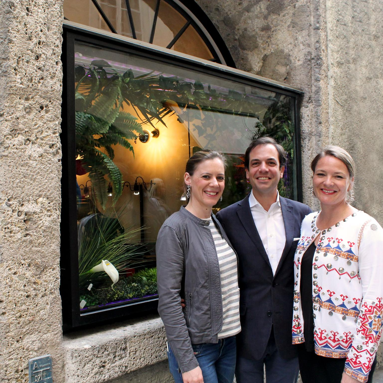 AENEA team at the Atelier showroom in Salzburg