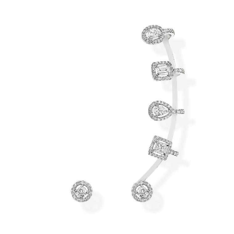 Messika diamond ear cuff and stud