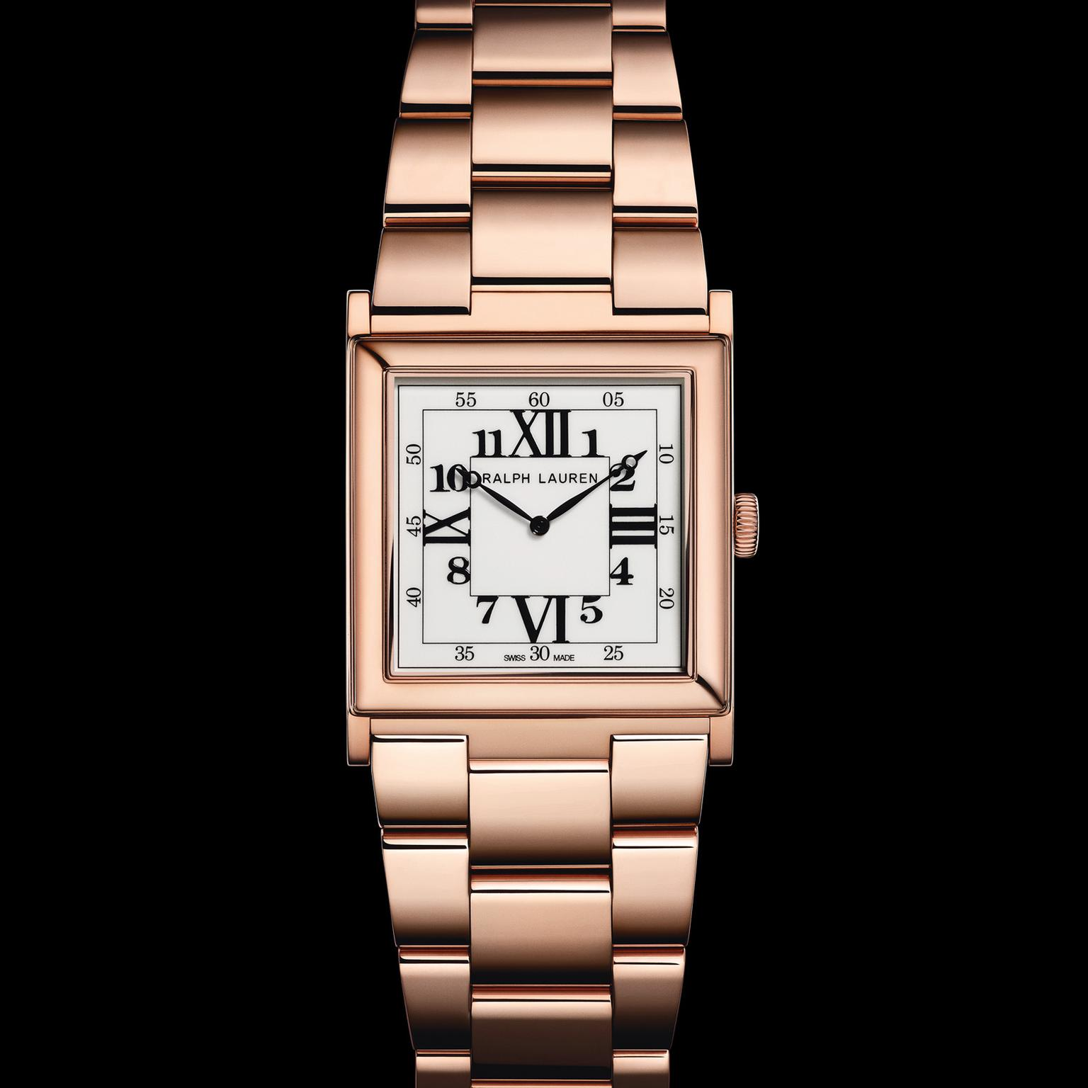Ralph Lauren Small Rose Gold men's watch