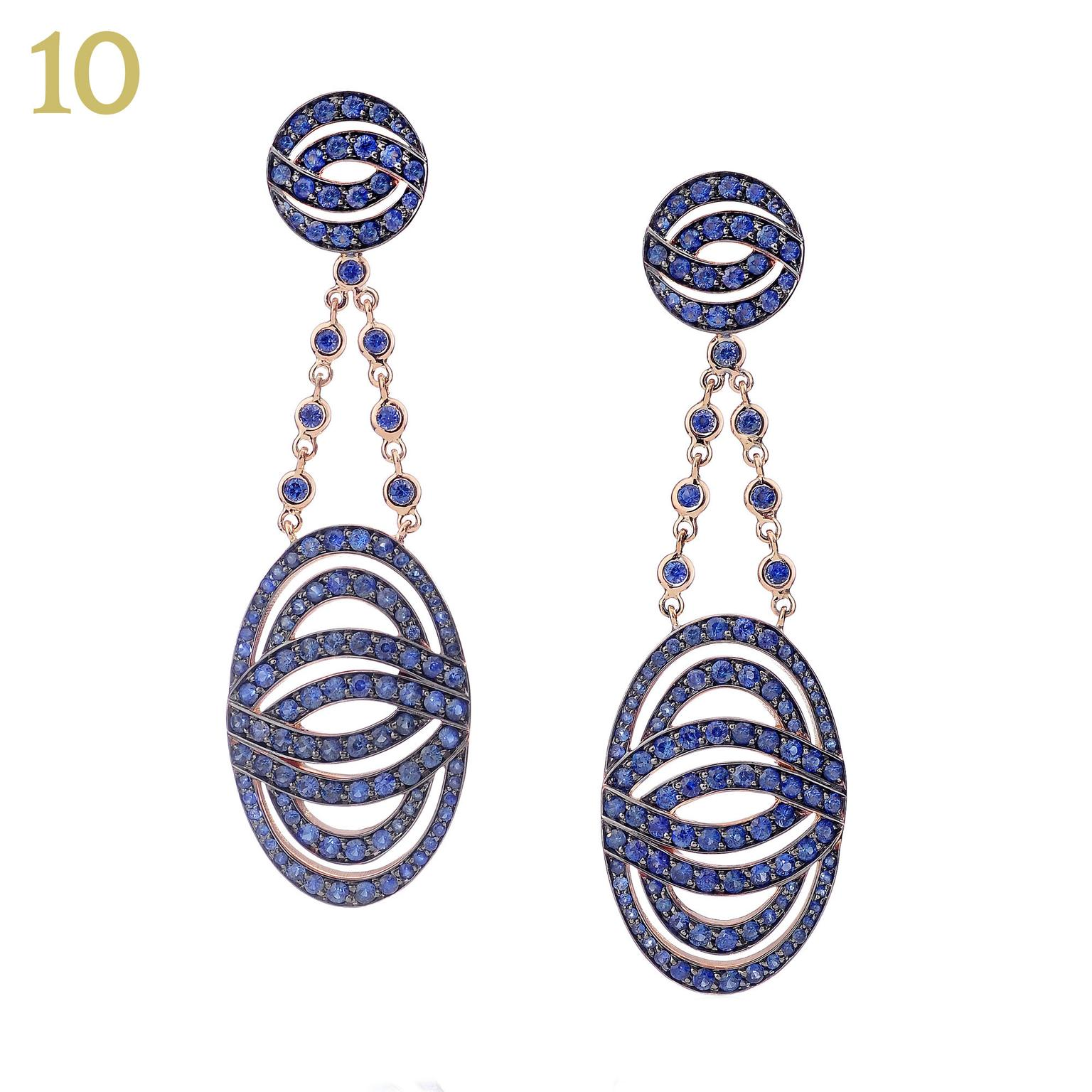 Lily Gabriella blue sapphire Infinitas earrings