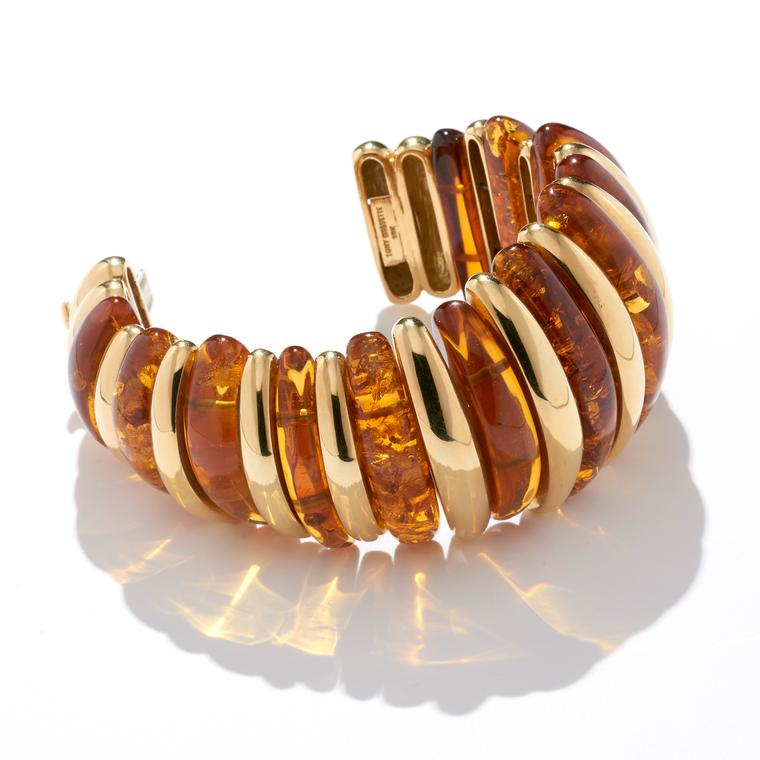 Bracelet of gold and amber by Tony Duquette