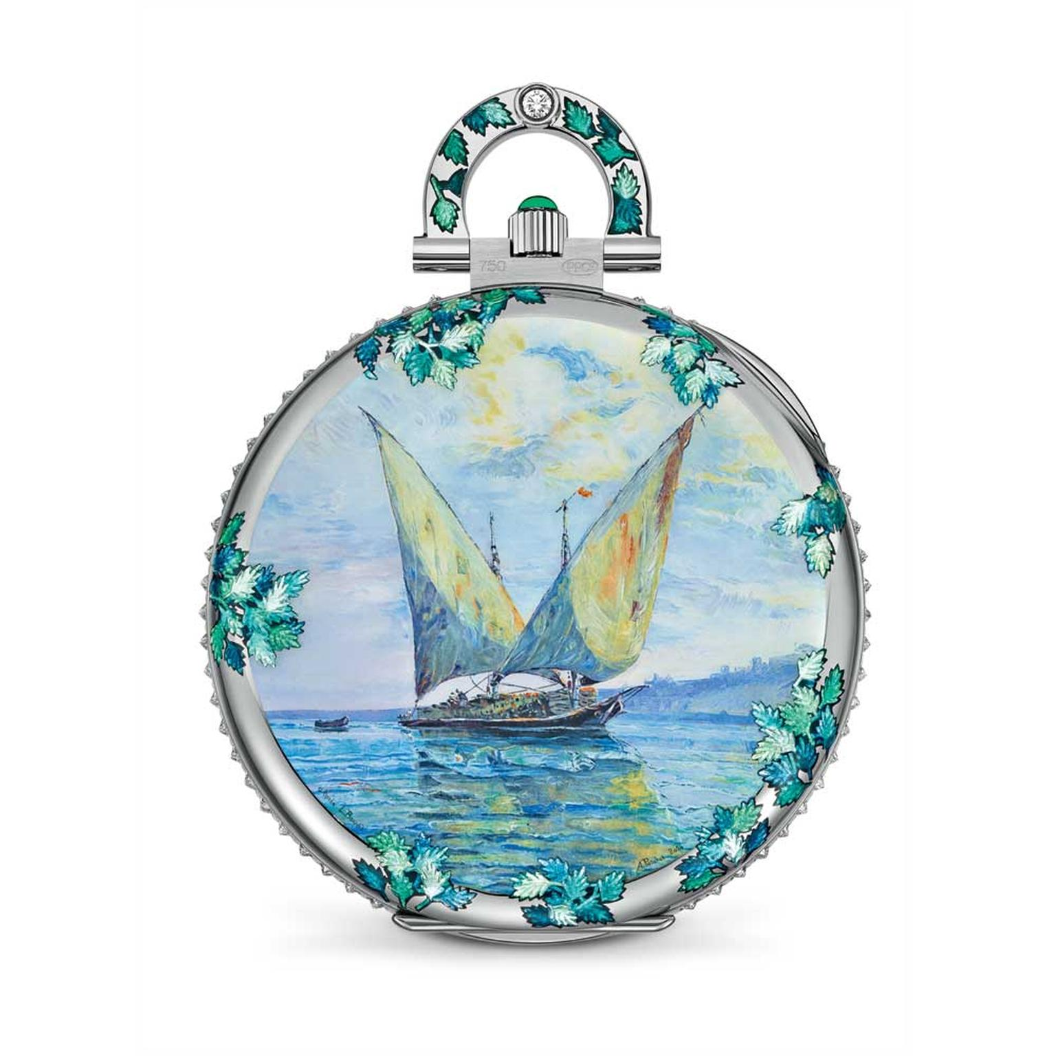 Patek Philippe miniature painting enamel pocket watch