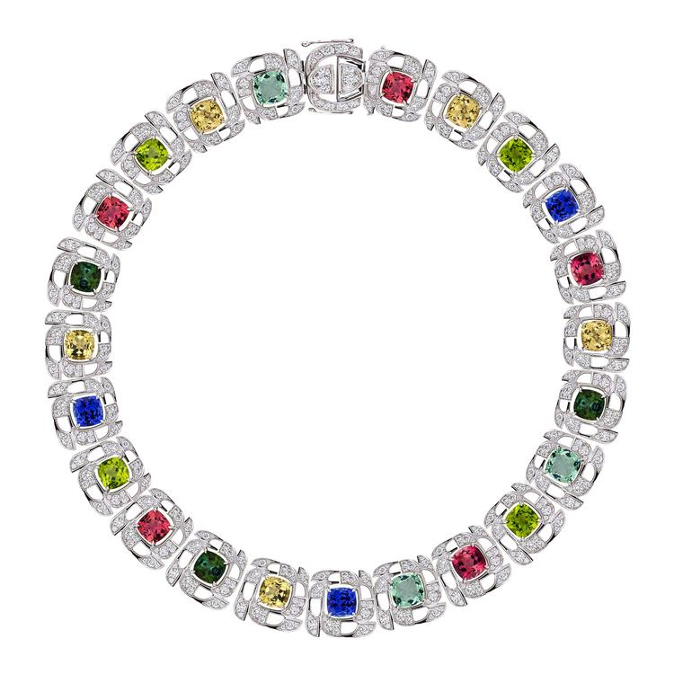 Boodles multicolour gemstone collar