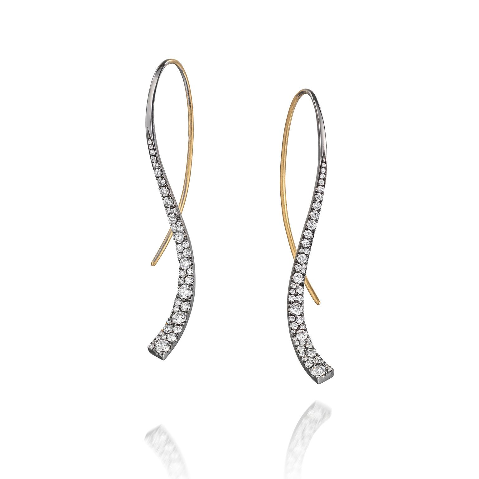 McCaul Goldsmiths Celestial diamond earrings