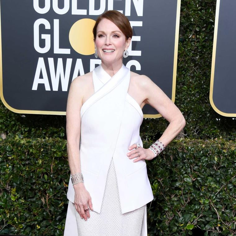 Julianne Moore Golden Globes Chopard jewels 2019