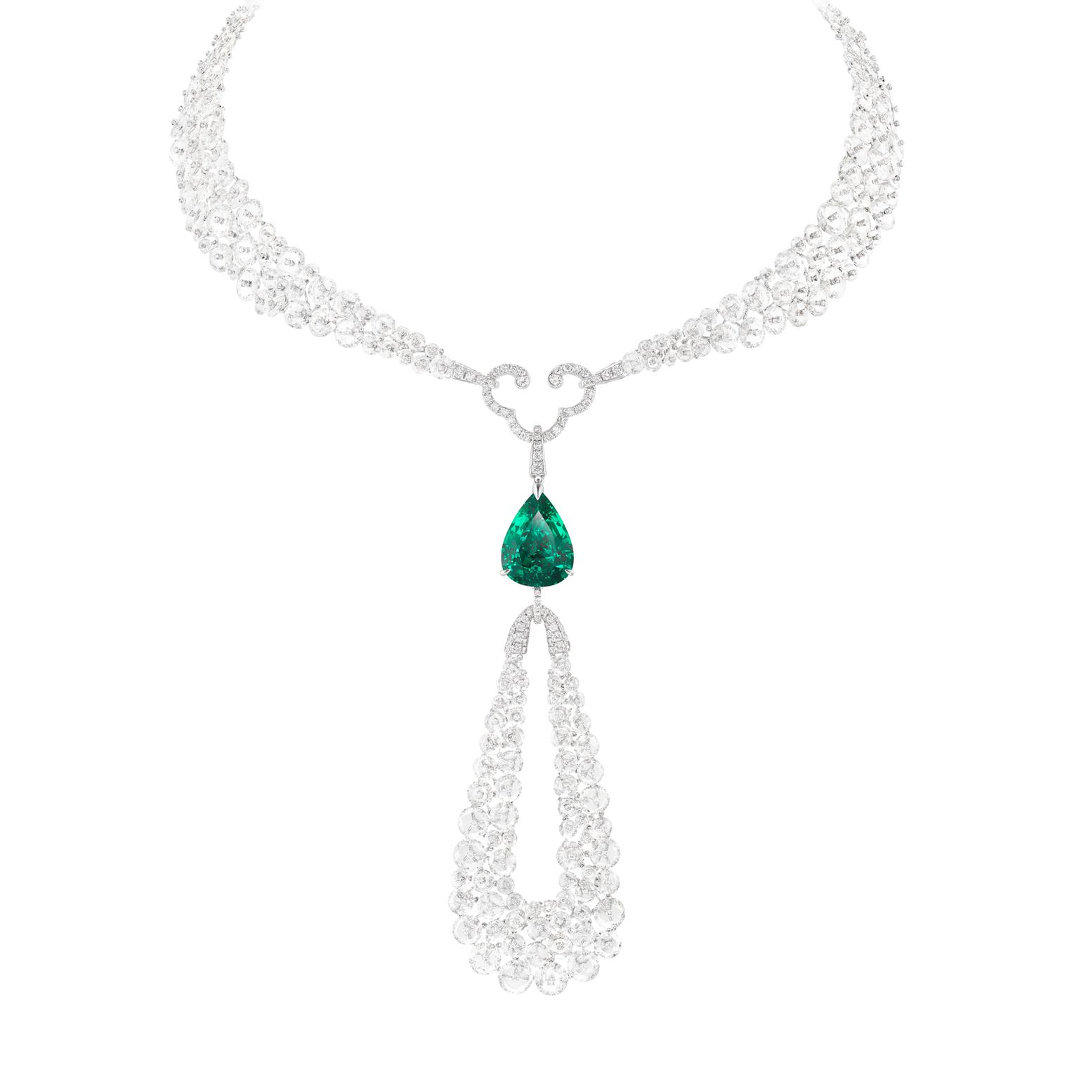 Boghossian diamond and emerald necklace