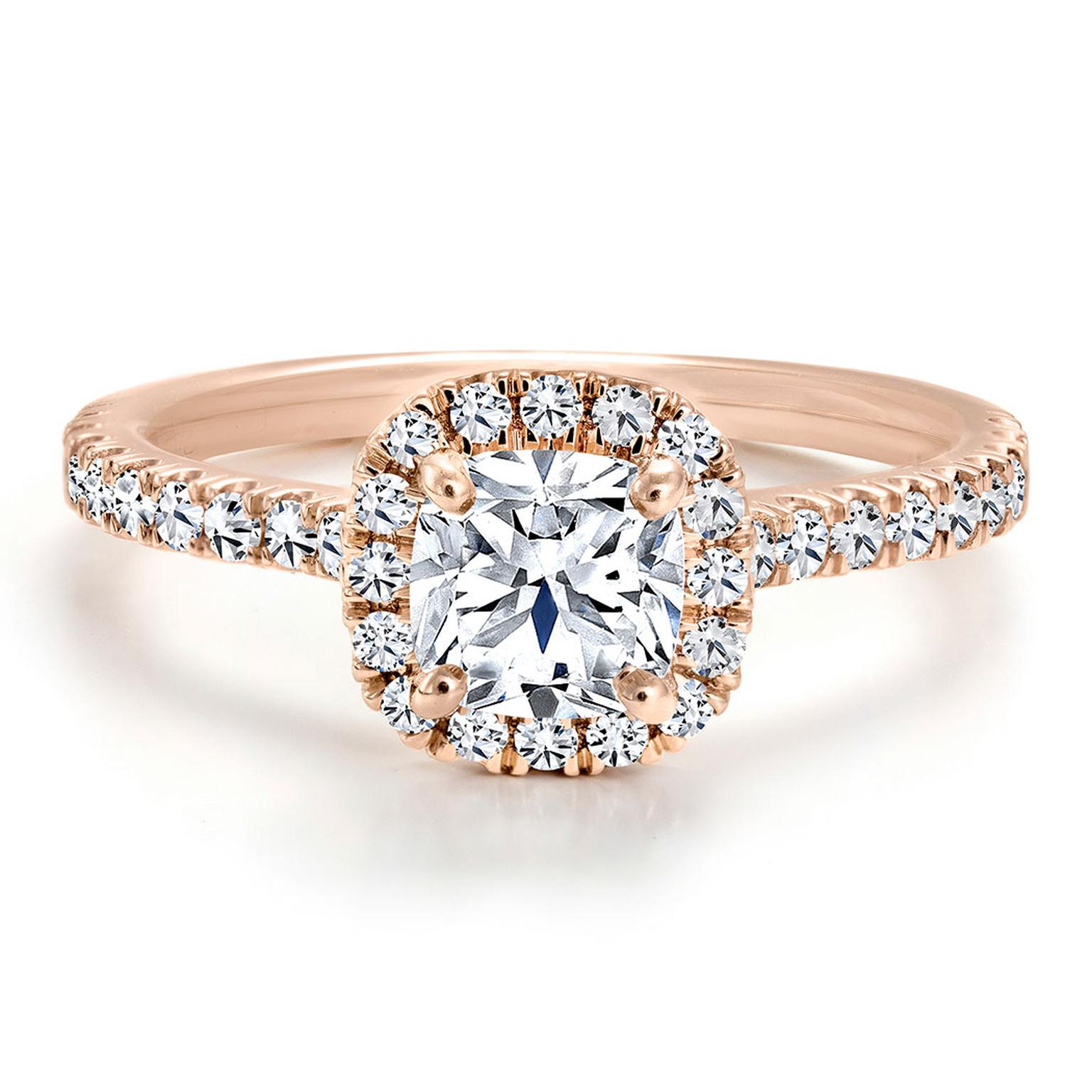 Forevermark Black Label rose gold and diamond engagement ring