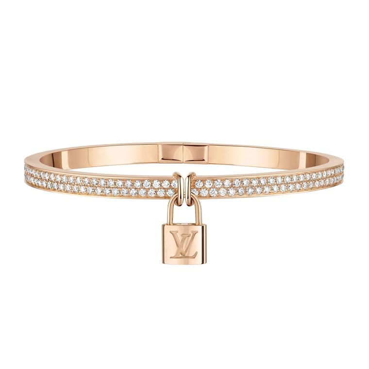 Louis Vuitton Lockit pink gold bracelet