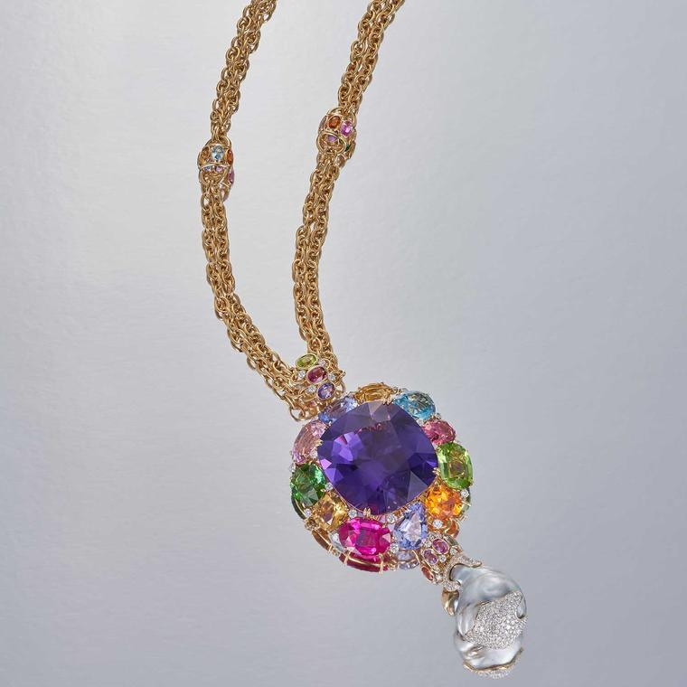 Margot McKinney 153 carat amethyst necklace