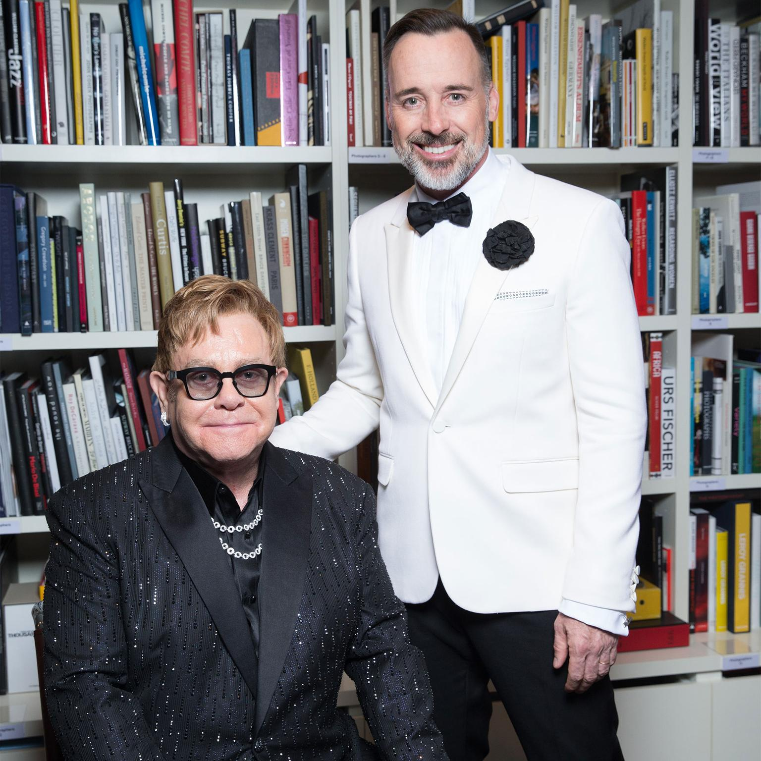 Sir Elton John and David Furnish at the Elton John AIDS Foundation