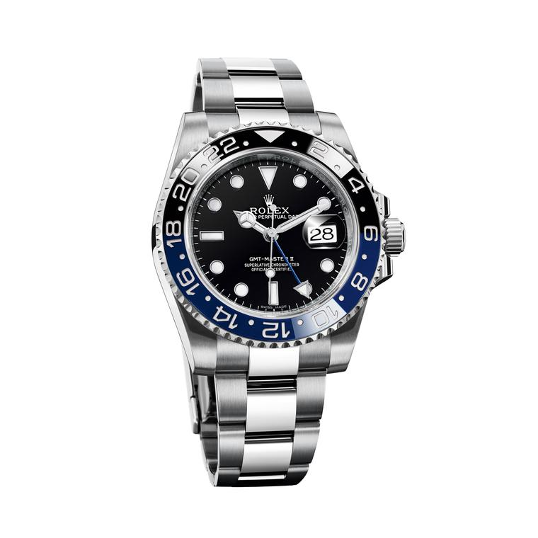 Oyster Perpetual GMT-Master II 40mm steel watch with black and blue bezel