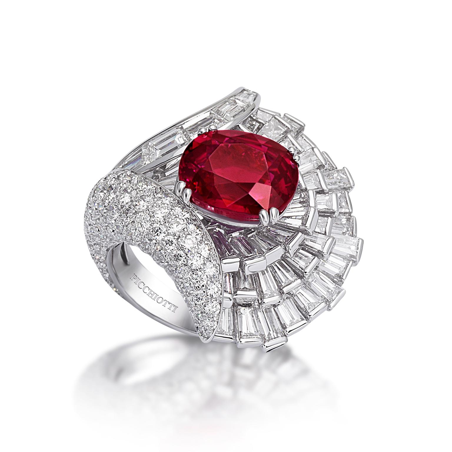 Picchiotti ruby one of a kind ring