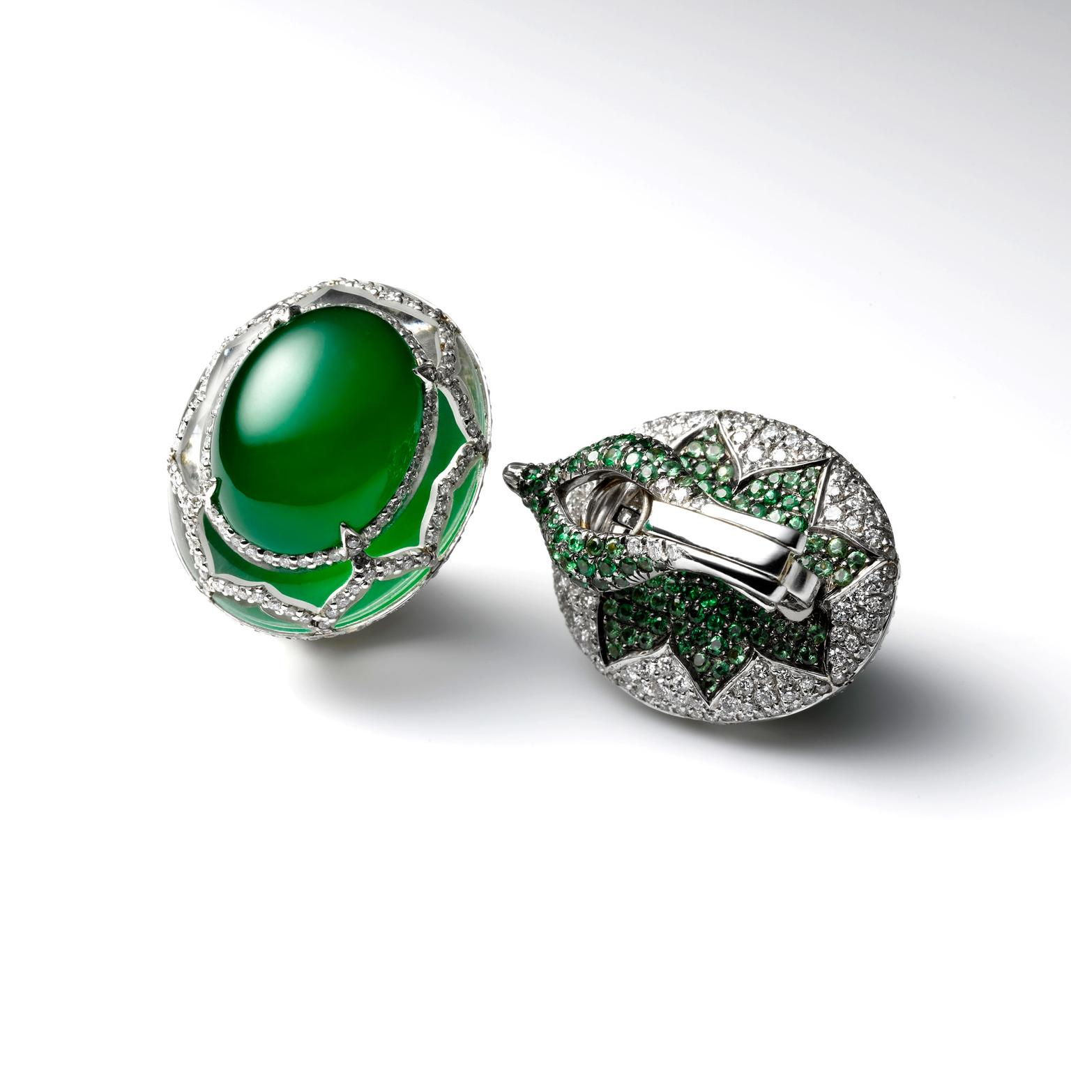 Samuel Kung jade earrings