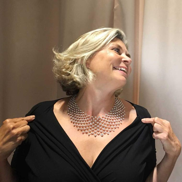 Maria in the Nirav Modi Constellation diamond necklace
