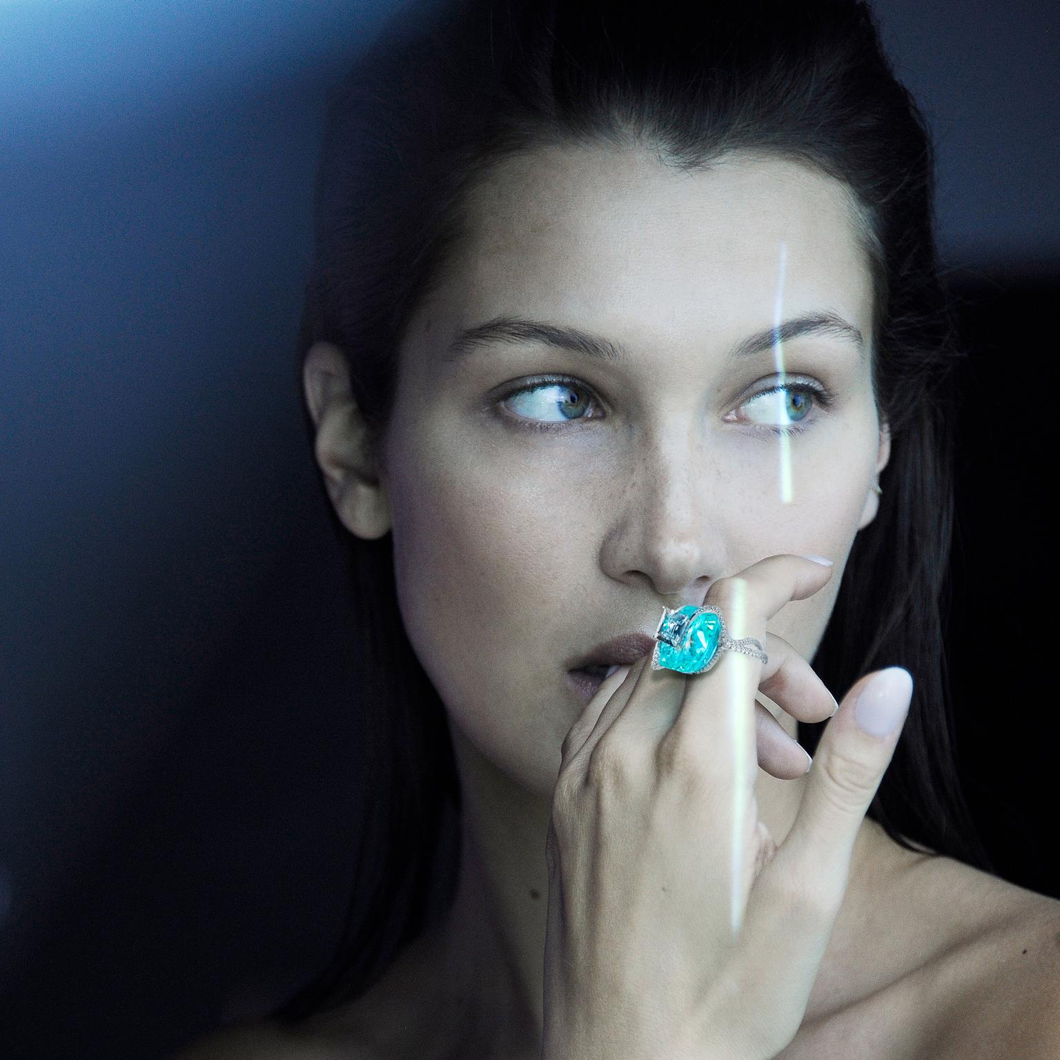 Bella Hadid models for Boghossian