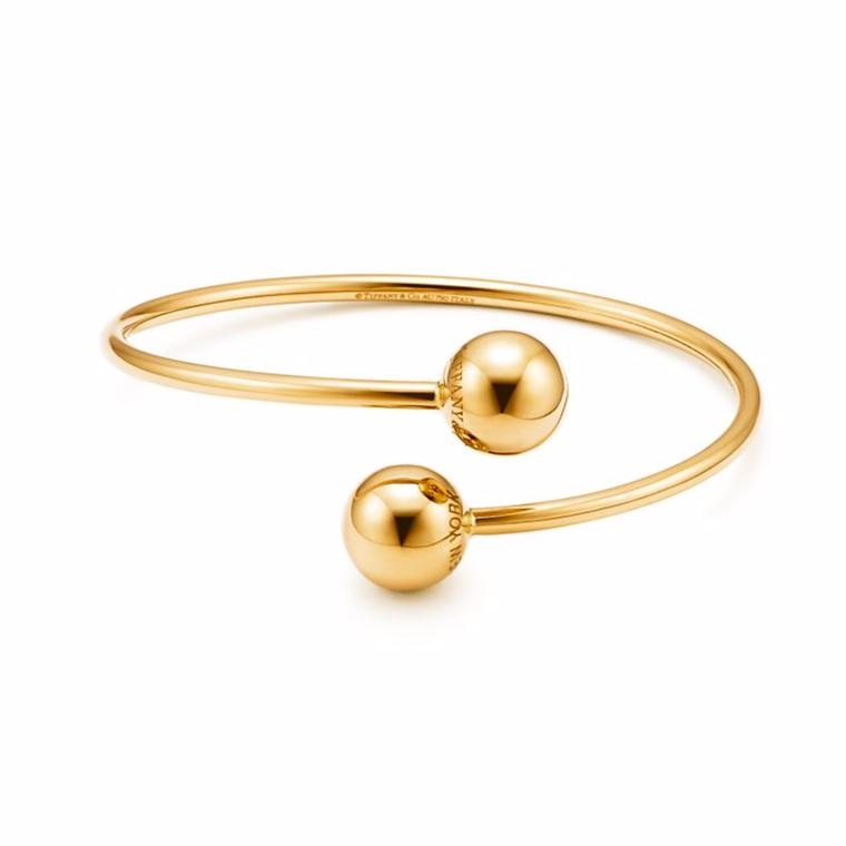 Tiffany City Hardwear Ball Bypass gold bracelet