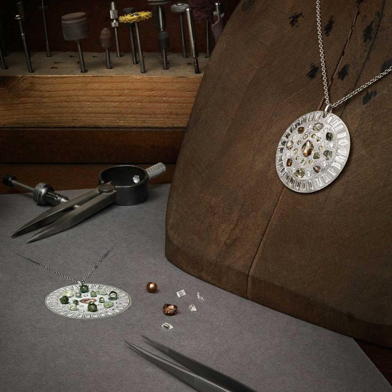 De Beers making of Talisman collection - necklace
