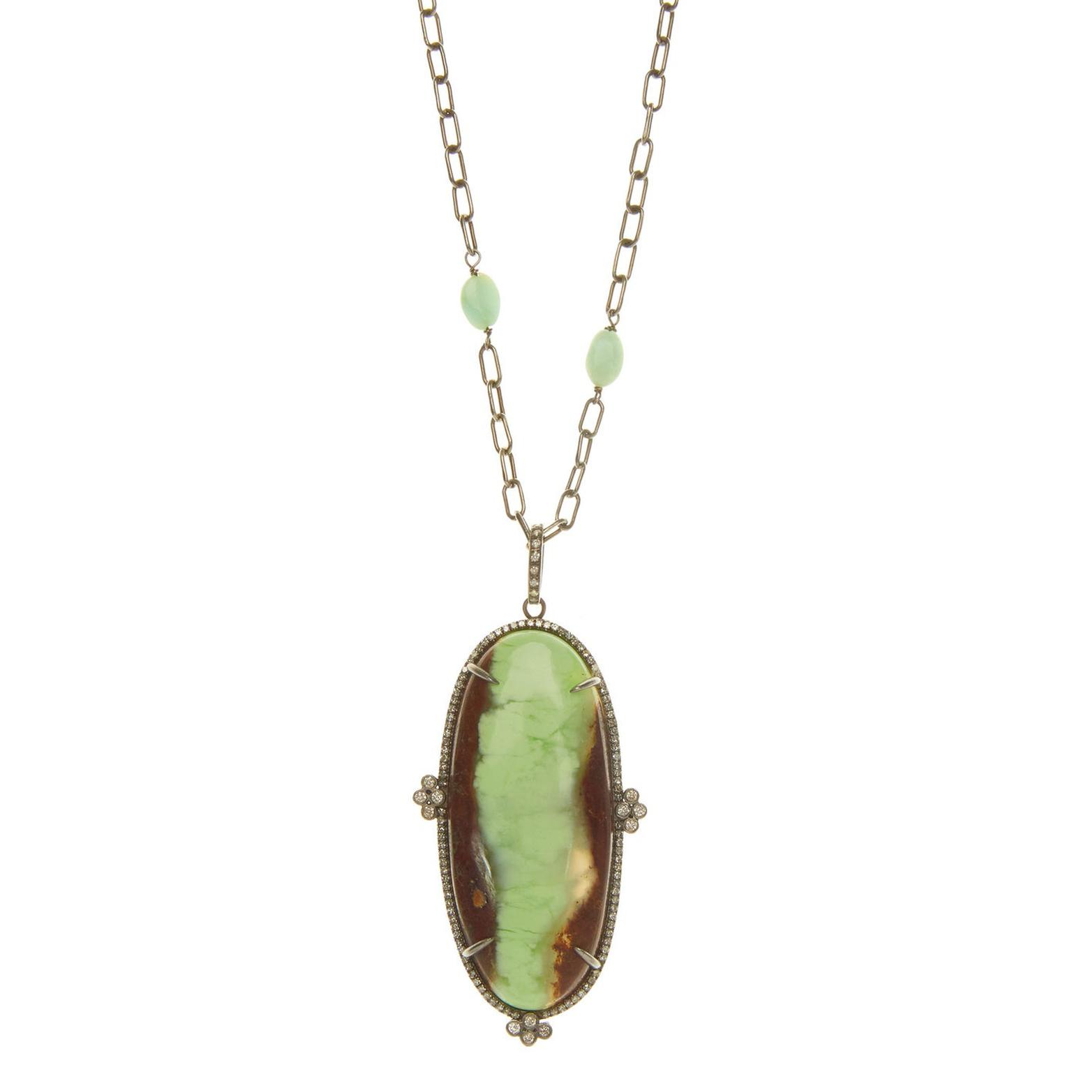 Ileana Makri chrysoprase necklace