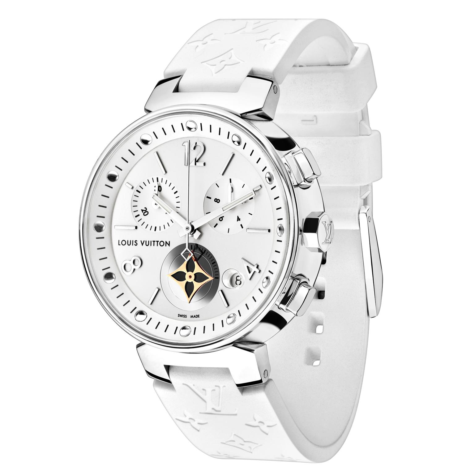 Louis Vuitton Tambour Moon Star Chronograph White