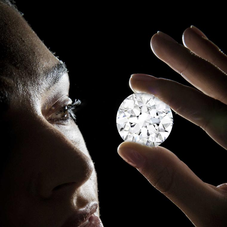 No estimate has been given by Sotheby's Diamonds who will sell the 102.34 carat diamond is the largest D Flawless brilliant cut diamond.