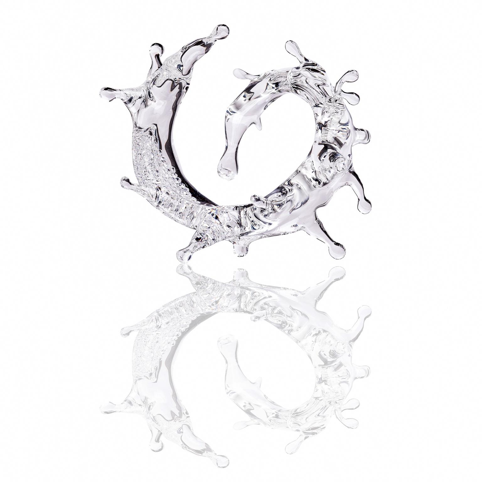 Beau Han Xu SPLASH! crystal glass and diamond bracelet