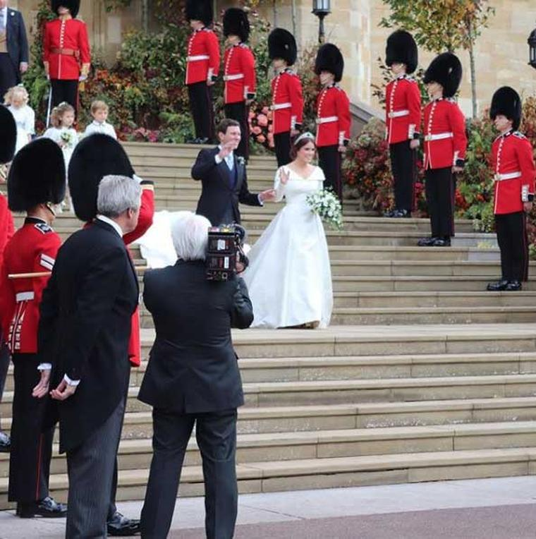 Princess Eugenie exiting church Windsor. Image courtesy: RoyalUK.com