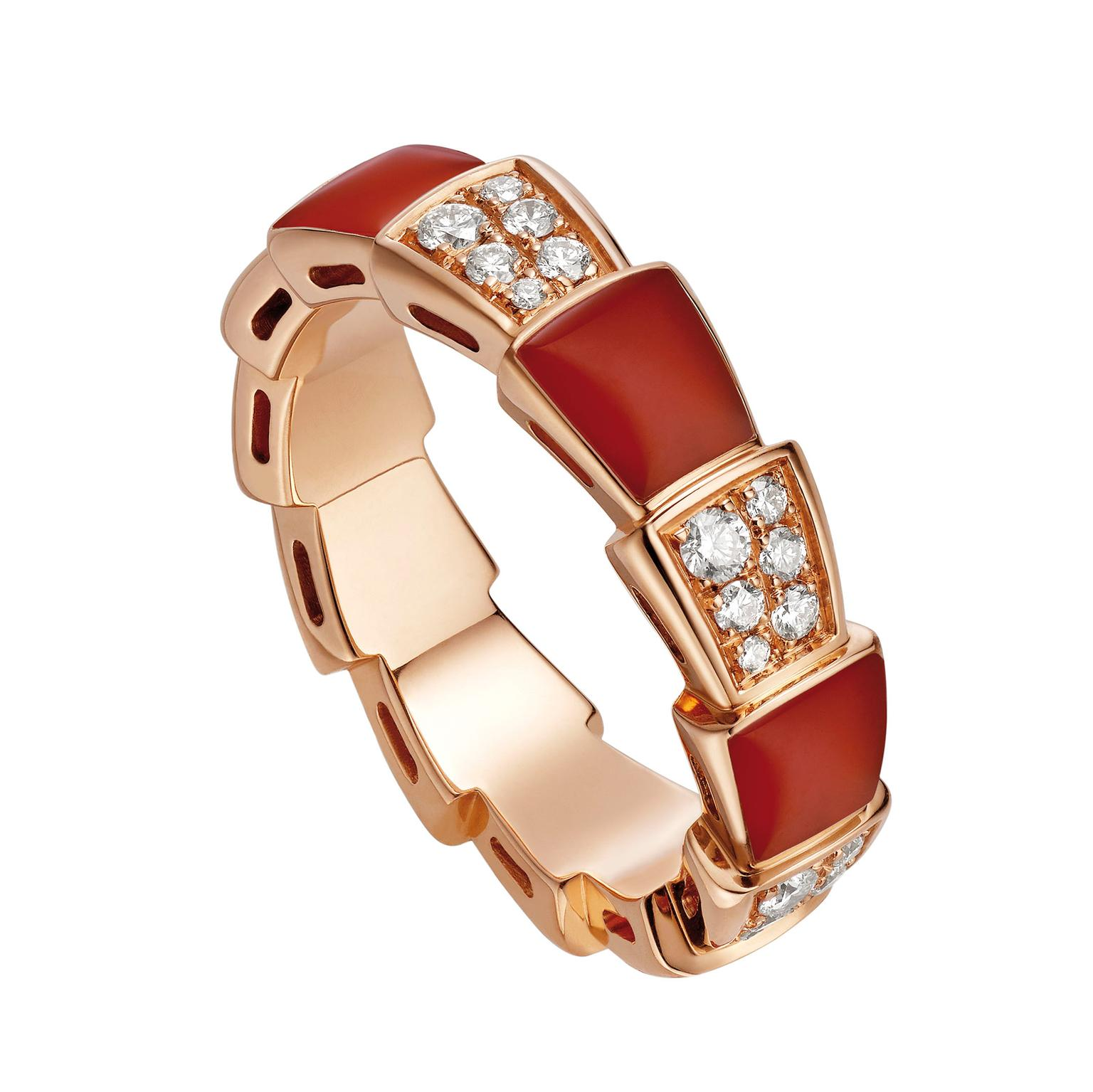 Bulgari Serpenti Viper carnelian ring