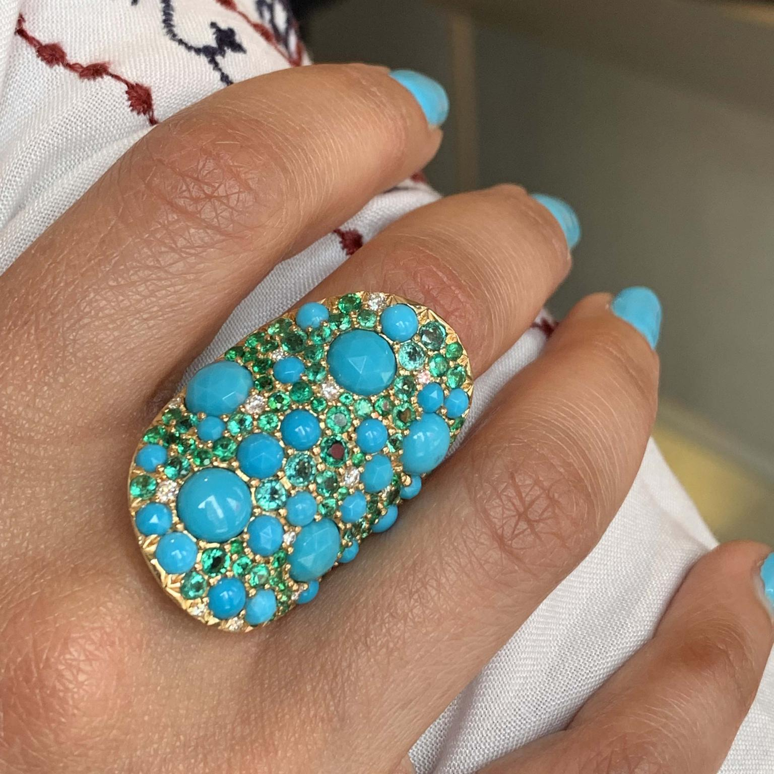 Vault ring from Robinson Pelham with turquoise