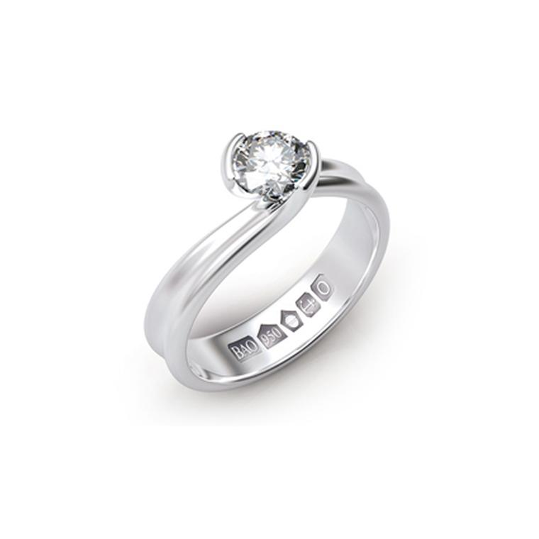 Platinum hallmark ring