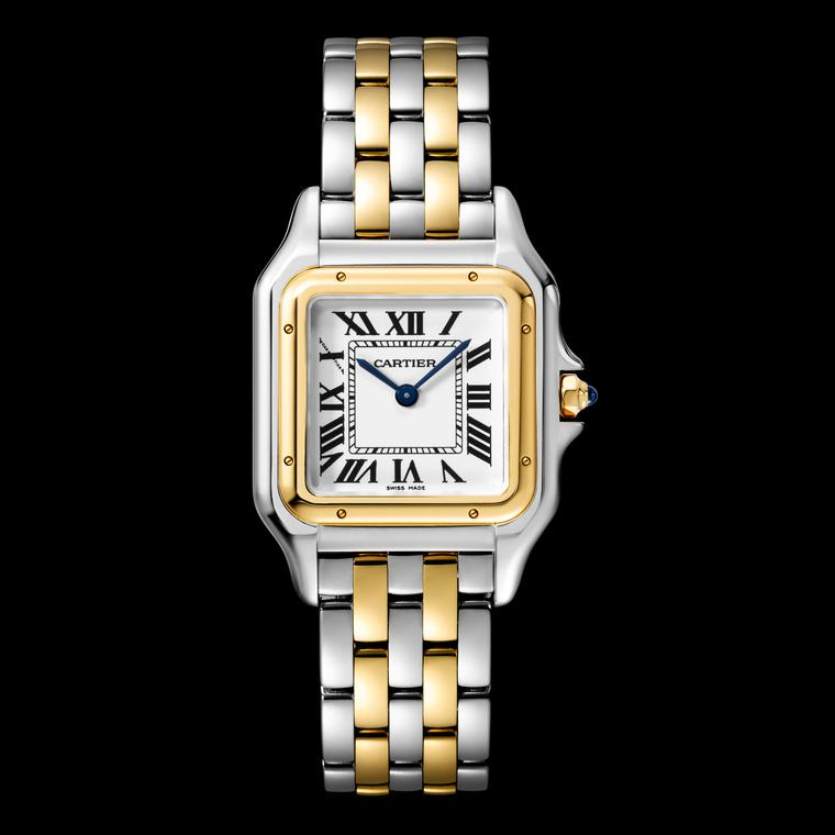 Panthère de Cartier watch n steel and yellow gold
