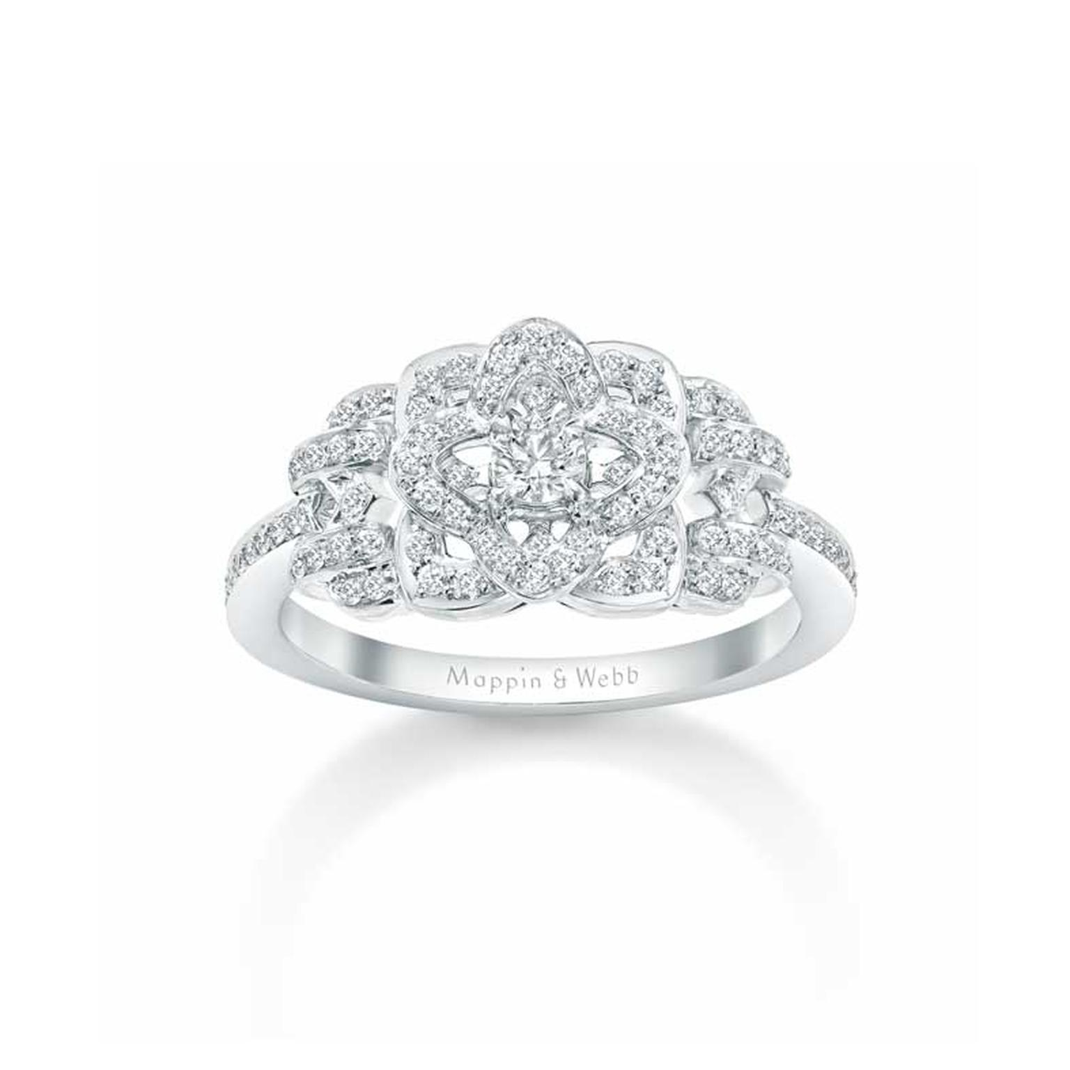 Mappin & Webb Floresco diamond engagement ring