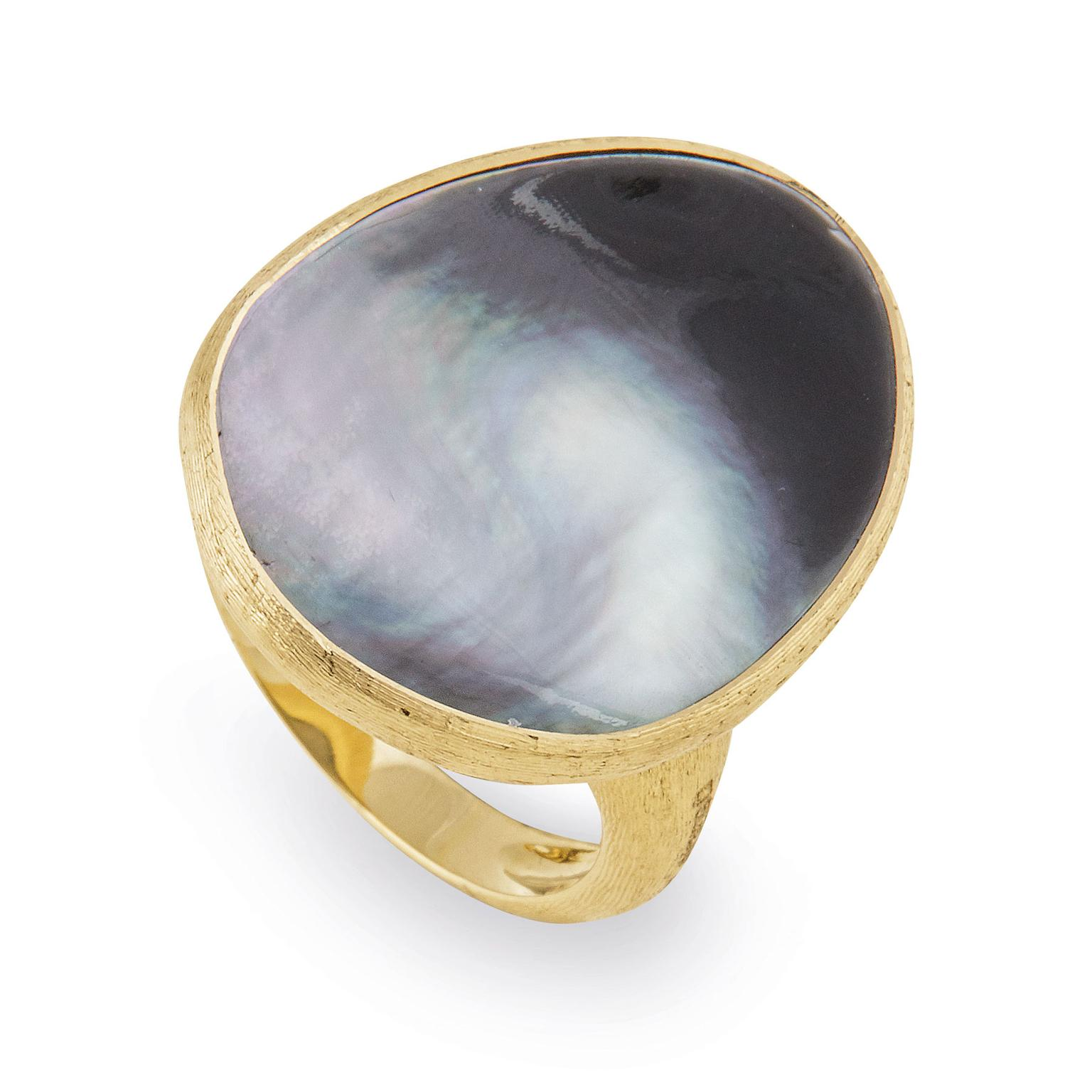 Marco Bicego Lunaria grey mother-of-pearl ring