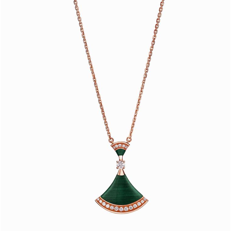 Bulgari gold, malachite and diamond Diva pendant